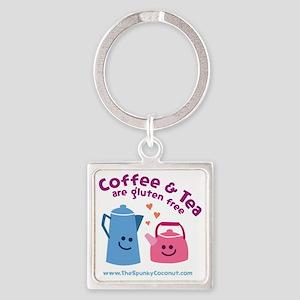 CoffeeTeaMug Square Keychain