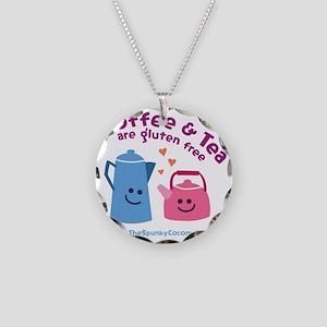 CoffeeTeaMug Necklace Circle Charm