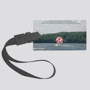 Conquer Fear Large Luggage Tag