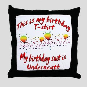 birthday shirt copy Throw Pillow