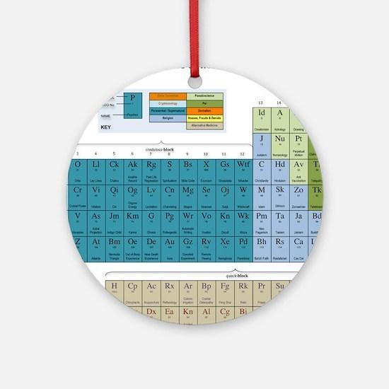 2-Periodic Table of Nonsense Poster Round Ornament