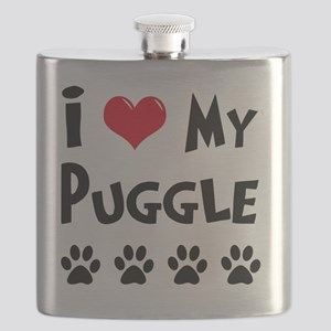 I-Love-My-Puggle Flask