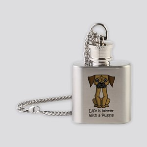 SS_Life-is-better-with-a-Puggle Flask Necklace