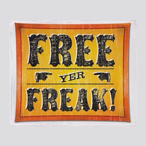 FreakOLDSTYLECP Throw Blanket