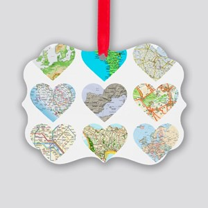 Heart Europe Picture Ornament