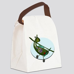 2-Bird-Dog-cartoon-. Canvas Lunch Bag