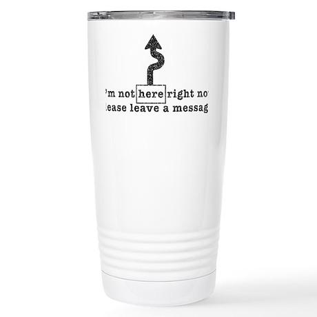 not here-arro-txtr-tr Stainless Steel Travel Mug