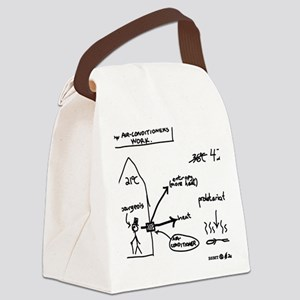 How Air-Conditioners Work Canvas Lunch Bag