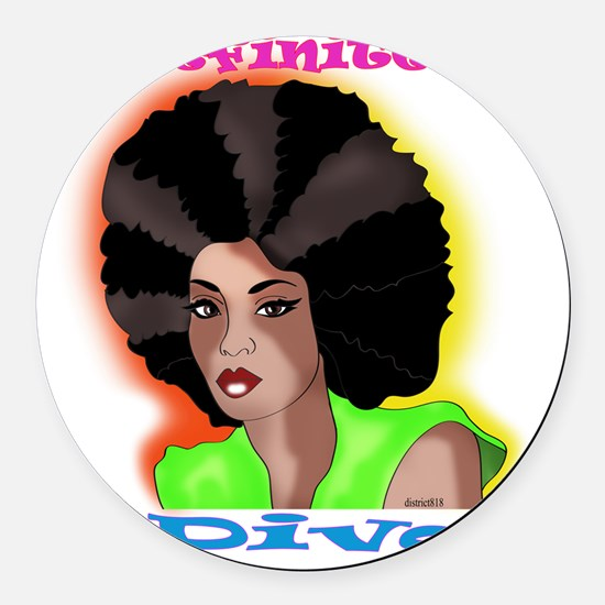 afro Round Car Magnet