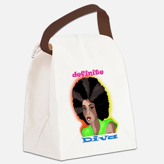 afro Canvas Lunch Bag