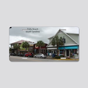 Folly Beach Strip Aluminum License Plate