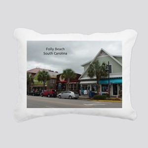 Folly Beach Strip Rectangular Canvas Pillow