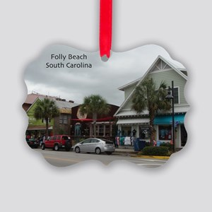 Folly Beach Strip Picture Ornament