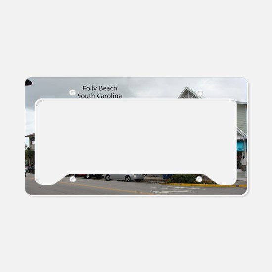 Folly Beach Strip License Plate Holder