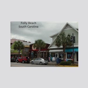 Folly Beach Strip Rectangle Magnet