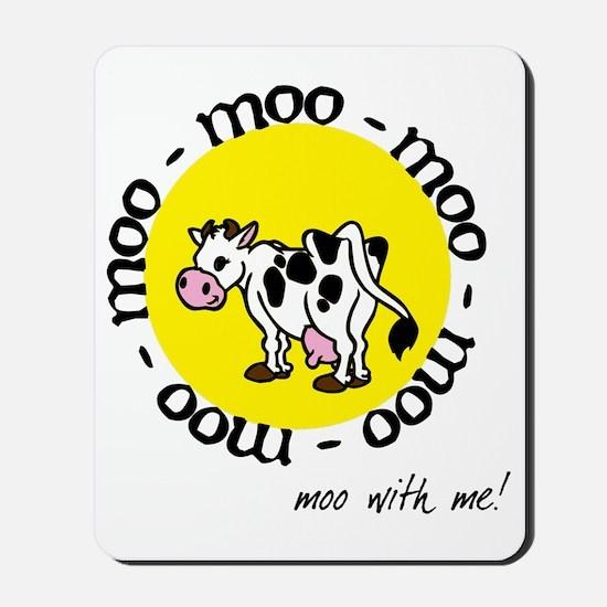 moo_with_me_moon Mousepad