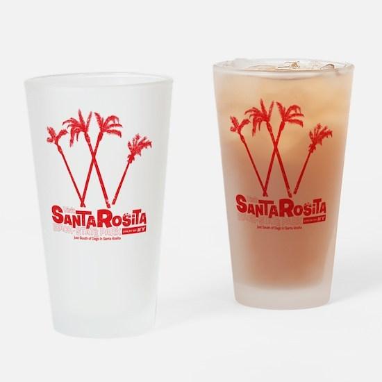 SantaRosita_Red Drinking Glass