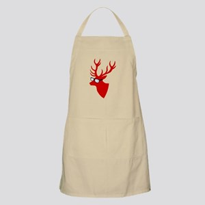 Christmas deer with nerd glasses Apron