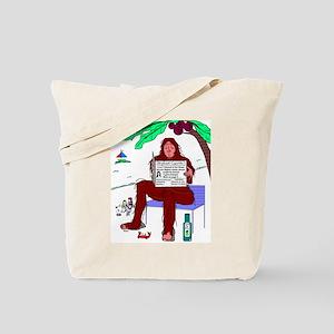 Bigfoot At The Beach Tote Bag