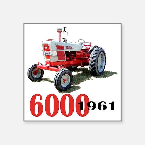 "Ford6000-10 Square Sticker 3"" x 3"""
