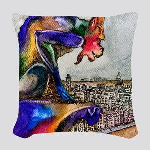 Gargoyle of Color Woven Throw Pillow