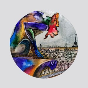 Gargoyle of Color Round Ornament