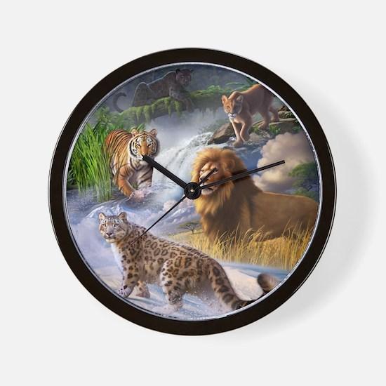 Big Cats Wall Clock