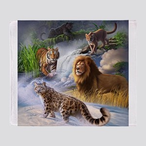 Big Cats Throw Blanket