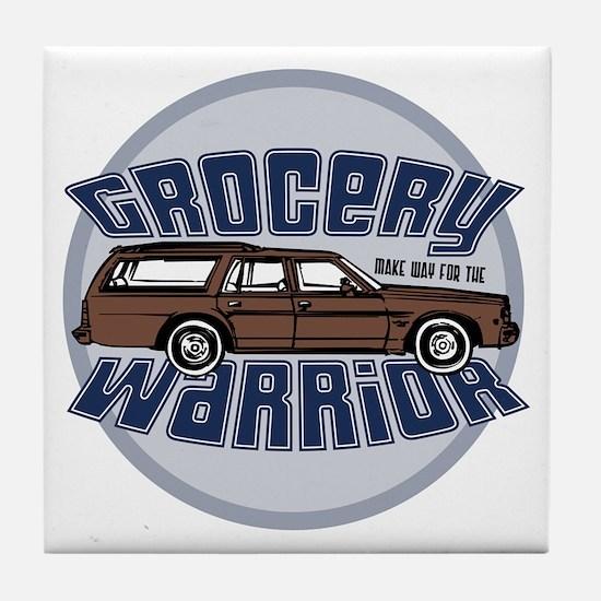grocery warrior dk Tile Coaster