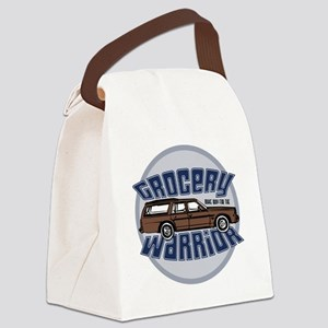 grocery warrior dk Canvas Lunch Bag