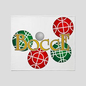 bocce1b Throw Blanket