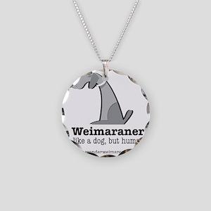 likadogbuthuman Necklace Circle Charm