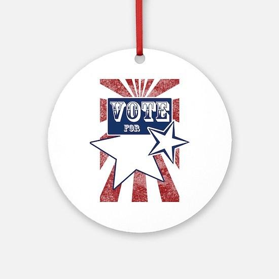vote for blank srcr Round Ornament
