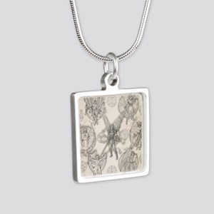 7Angels10x10 Silver Square Necklace