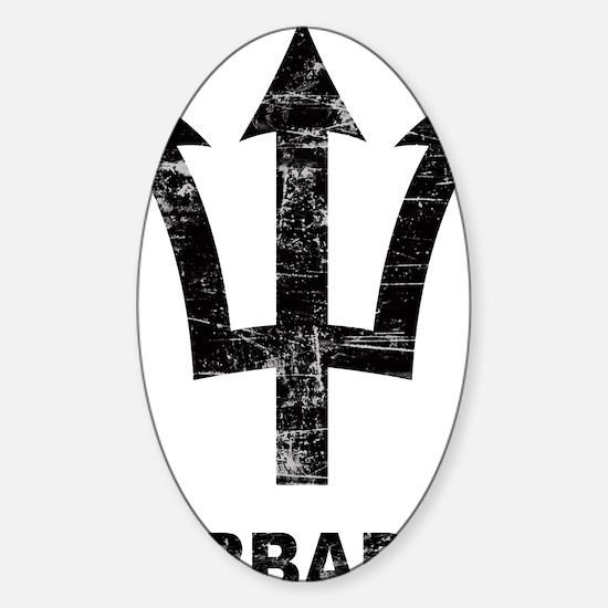 Vintage2Barbados2 Sticker (Oval)
