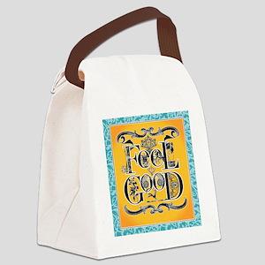 3-ornate feel good filigree Canvas Lunch Bag
