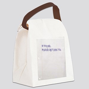 if found sr Canvas Lunch Bag