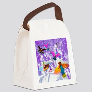 Trap The Elf Fairy Dance - Canvas Lunch Bag