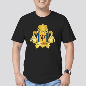 Gold1Barbados1 Men's Fitted T-Shirt (dark)