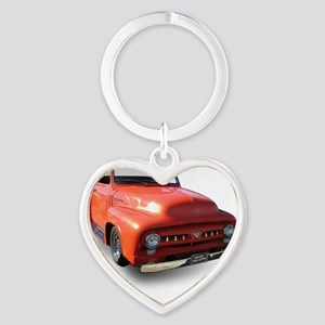orange truck-no logo Heart Keychain