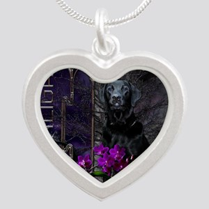 Canine_Moonlight Silver Heart Necklace