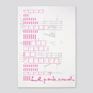 Lil pink crush sound 5'x7'Area Rug