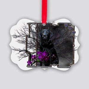 Canine_Moonlight_Pl Picture Ornament