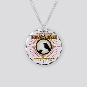 CleDrumCircleOVHDblk Necklace Circle Charm