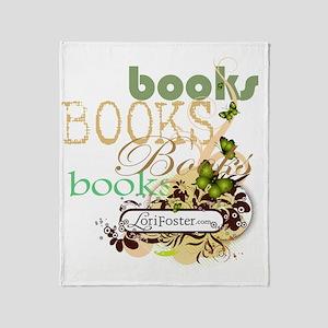 shirt - books books butterfly banner Throw Blanket