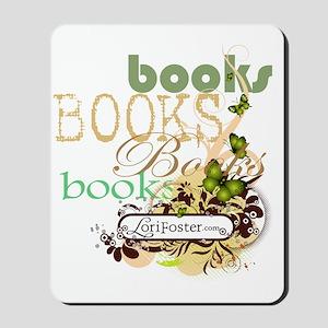 shirt - books books butterfly banner cop Mousepad