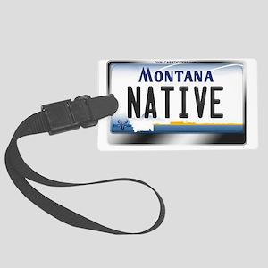 montana-plate-native3 Large Luggage Tag
