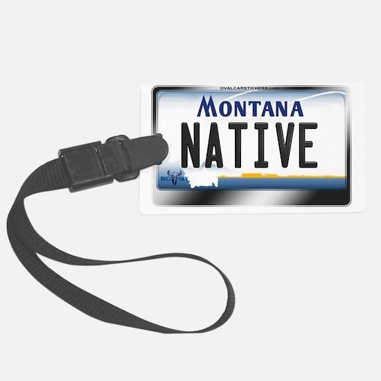 montana-plate-native3 Luggage Tag