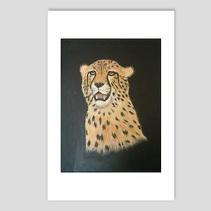 Cheetah painting Postcards (Package of 8)