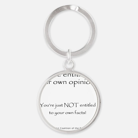 2-your.own.facts Round Keychain